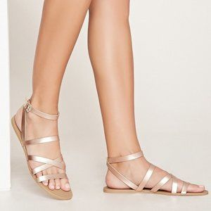 Forever 21 Metallic Gold Sandals